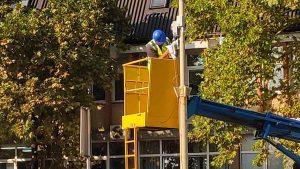 Постављање камере код Клиничког центра у Крагујевцу